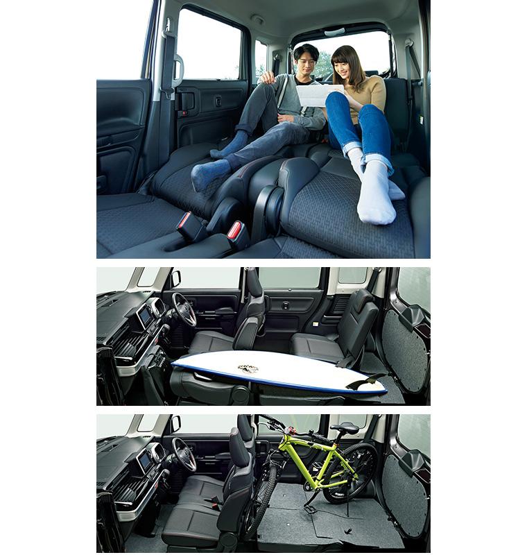 新型スペーシアカスタムの乗り心地は快適?後部座席は大人の男性でも足を伸ばせる?