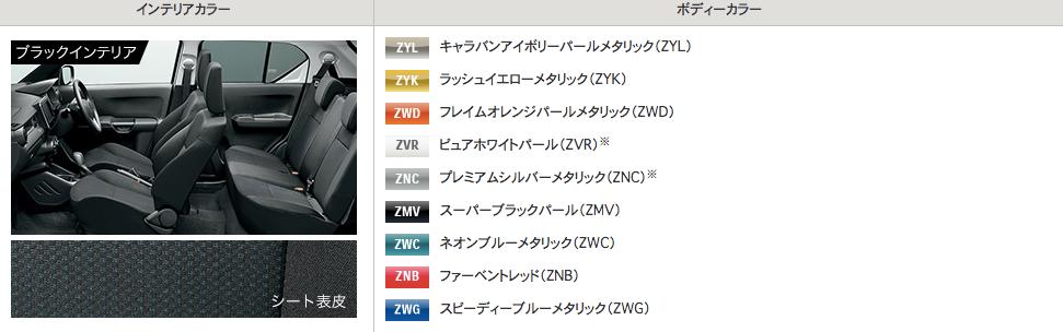 新型イグニスの人気色・カラーバリエーション一覧!!おすすめランキング!!